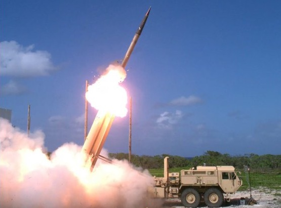 Test launch of USTHAAD missile defense system now installed in South Korea against the government's wishes (army.mil photo)