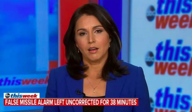 Rep. Tulsi Gabbard (D-Hawaii) on ABC, Click image to go to interview (sorry for the ad at the start)