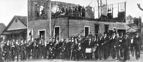 Wilmington insurrectionists burn building of black owned Daily Record newspaper.