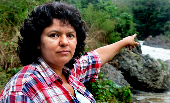Murder victim Berta Caceres, co-founder of COPINH, fought for the rights of the poor