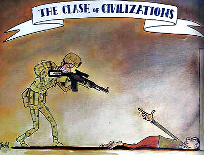 Turkish cartoonist Mustafa Bilgin's take on The Clash Of Civilizations