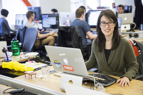 Happier times? Ellen Pao at Reddit's Office