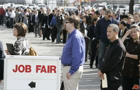 There may be job fairs, but there are no jobs. Is that fair?