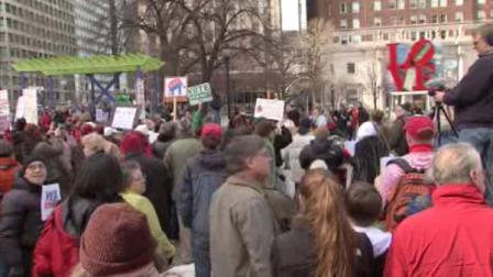 Philly unionists rallied to support Wisconsin workers--and to prepare for attacks in PA