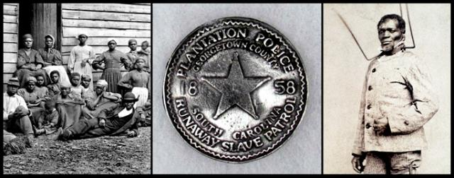 Virginia slaves; Plantation Police badge; freed slave Wilson Chimm in punishment device, 1863