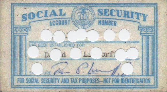 "There are so many holes in the security of your Social Security number, the word ""security"" is really a joke"