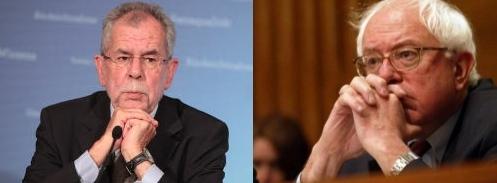 Austrian President-elect Alexander van der Bellen and presidential candidate Bernie Sanders
