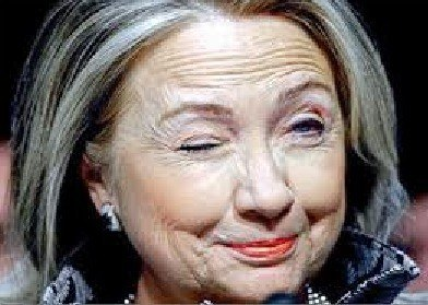 Why's Hilllary Clinton winking?